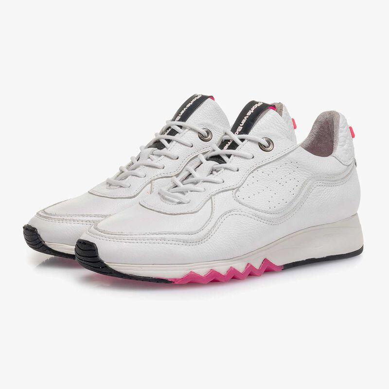 Floris van Bommel - Weißer fein strukturierter Kalbsleder-Sneaker - 5