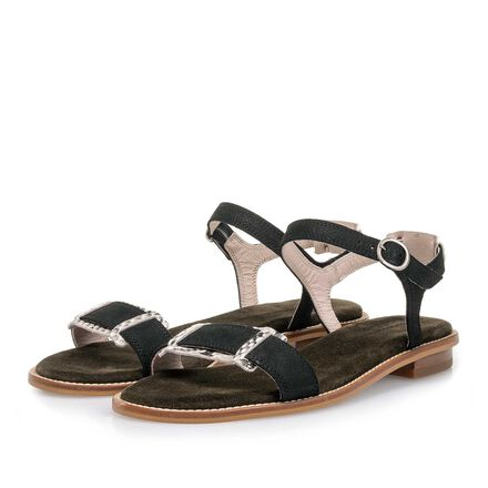 Nubuck leather sandal