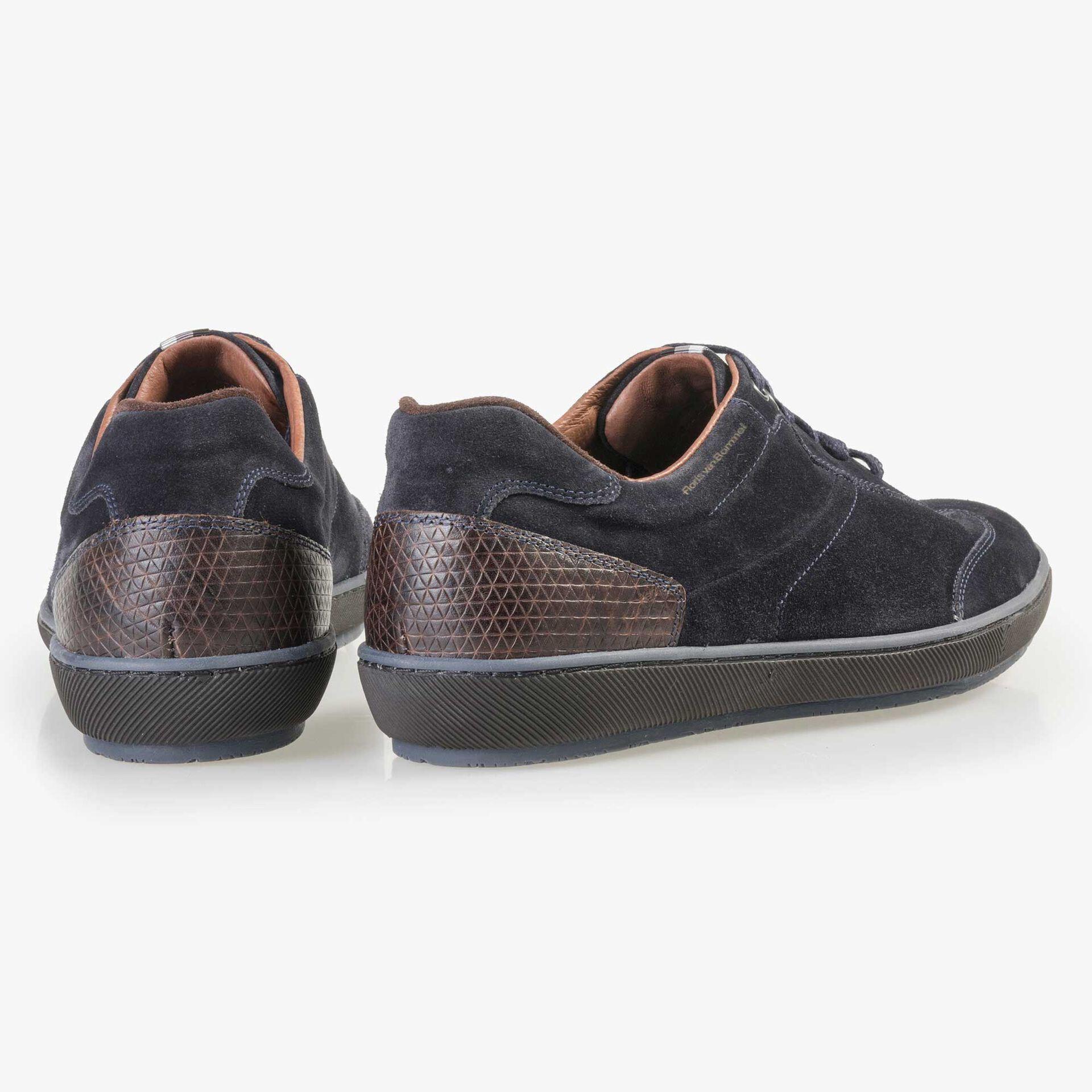 Floris van Bommel men's blue suede leather sneaker
