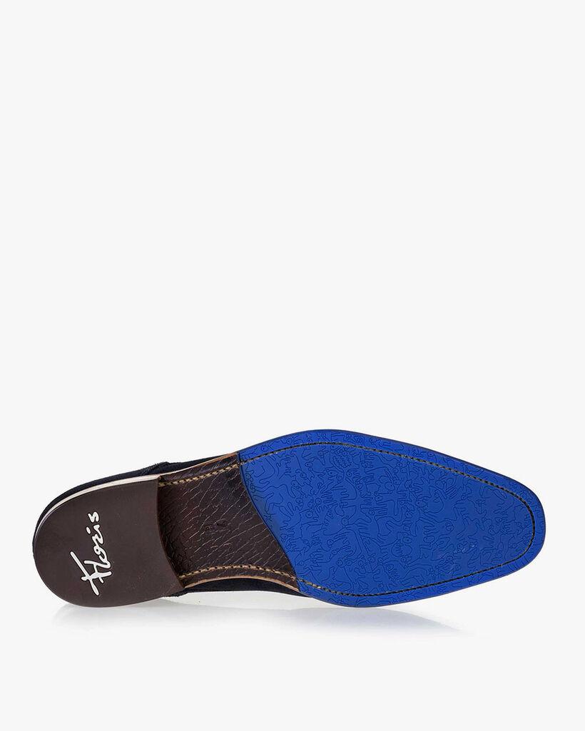 Schnürstiefel Wildleder blau
