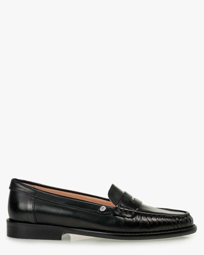 Loafer calf leather black