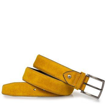 Gürtel gelb Wildleder