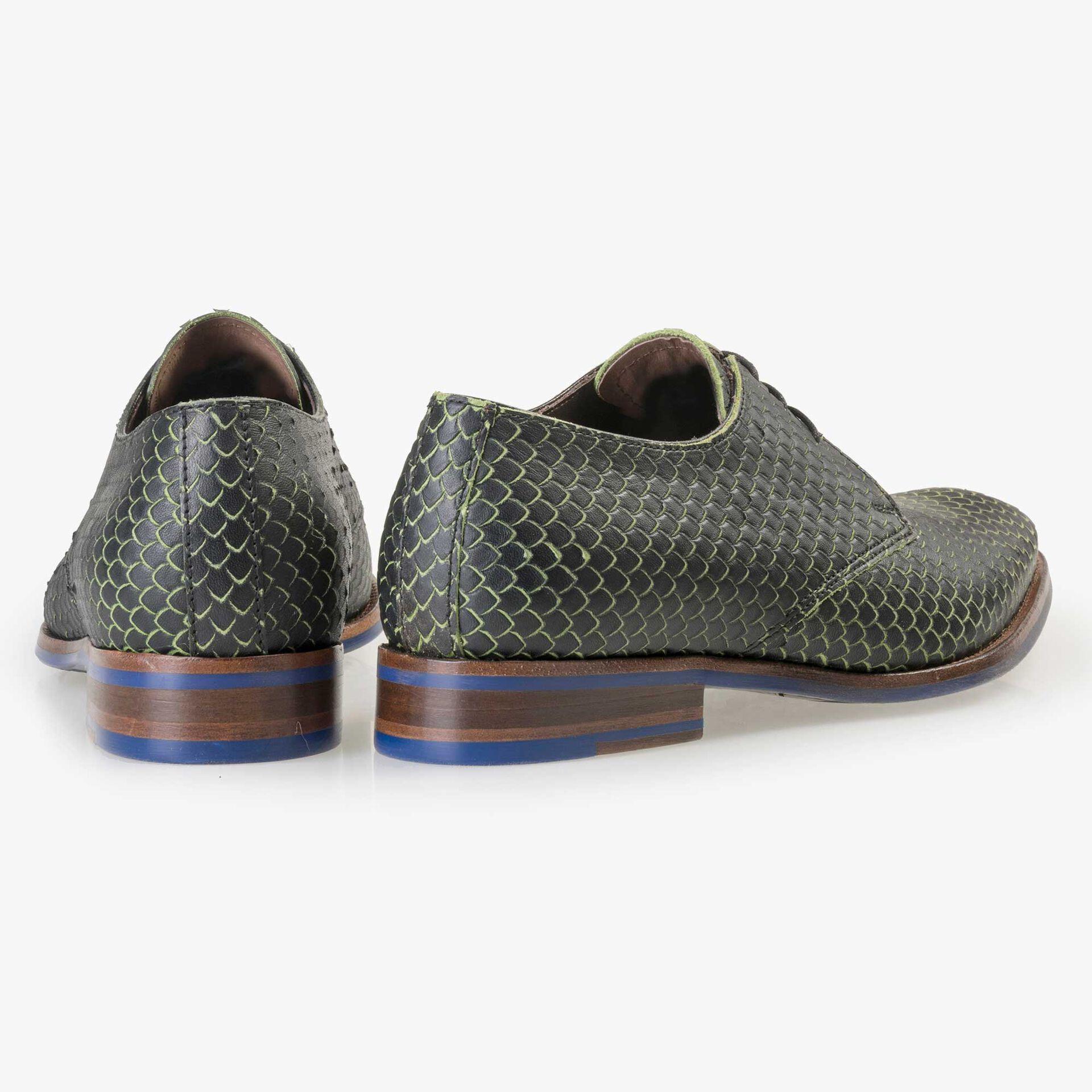 Floris van Bommel Premium green leather lace shoe