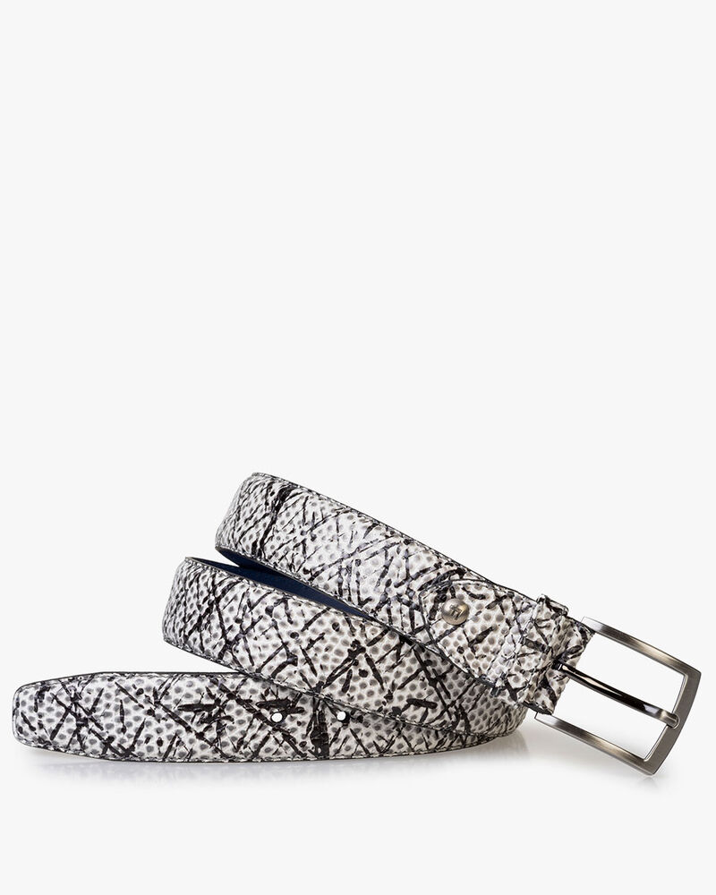 Belt printed leather