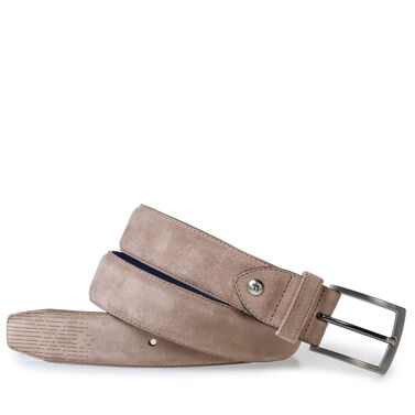 Leather belt with Laserprint