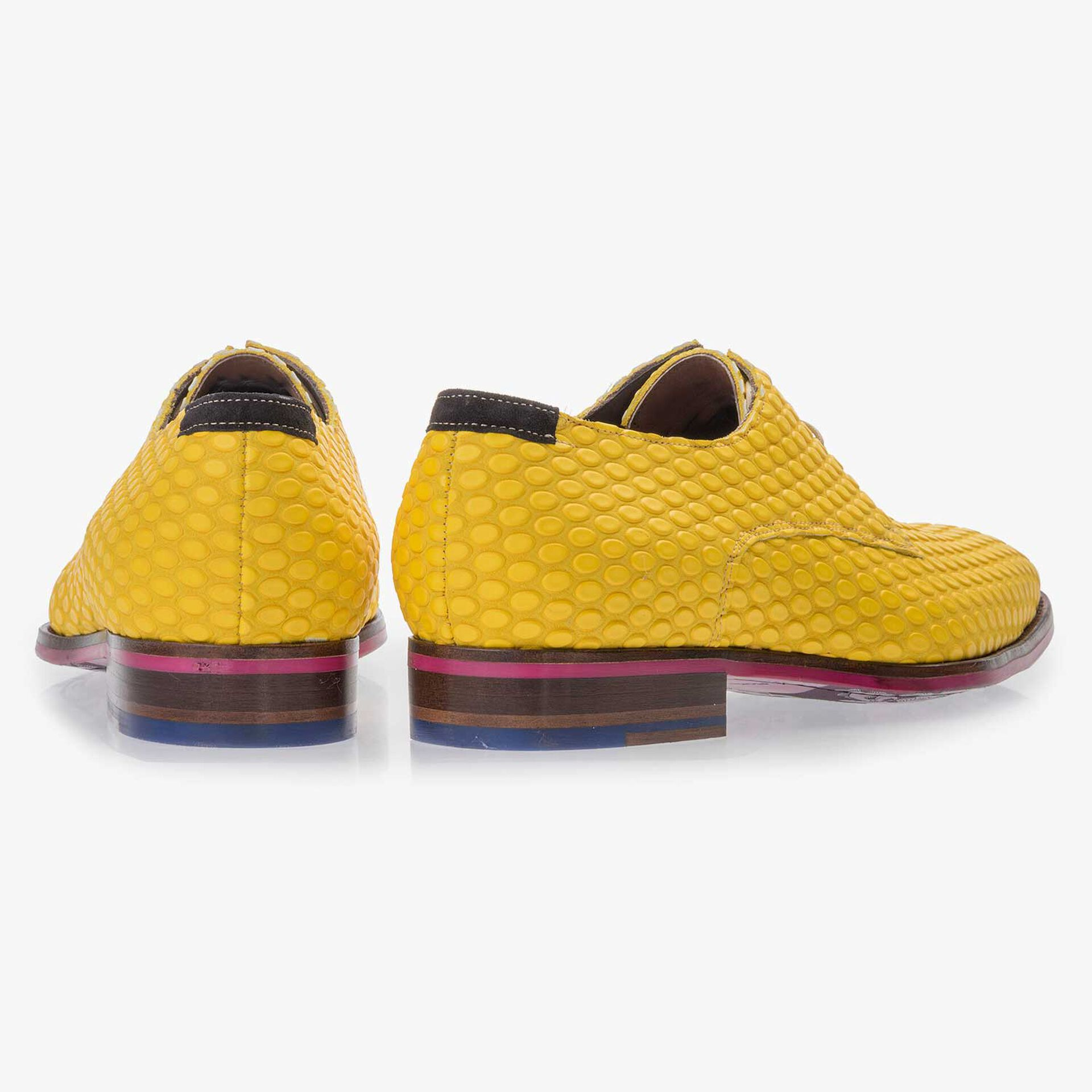 Premium yellow leather lace shoe