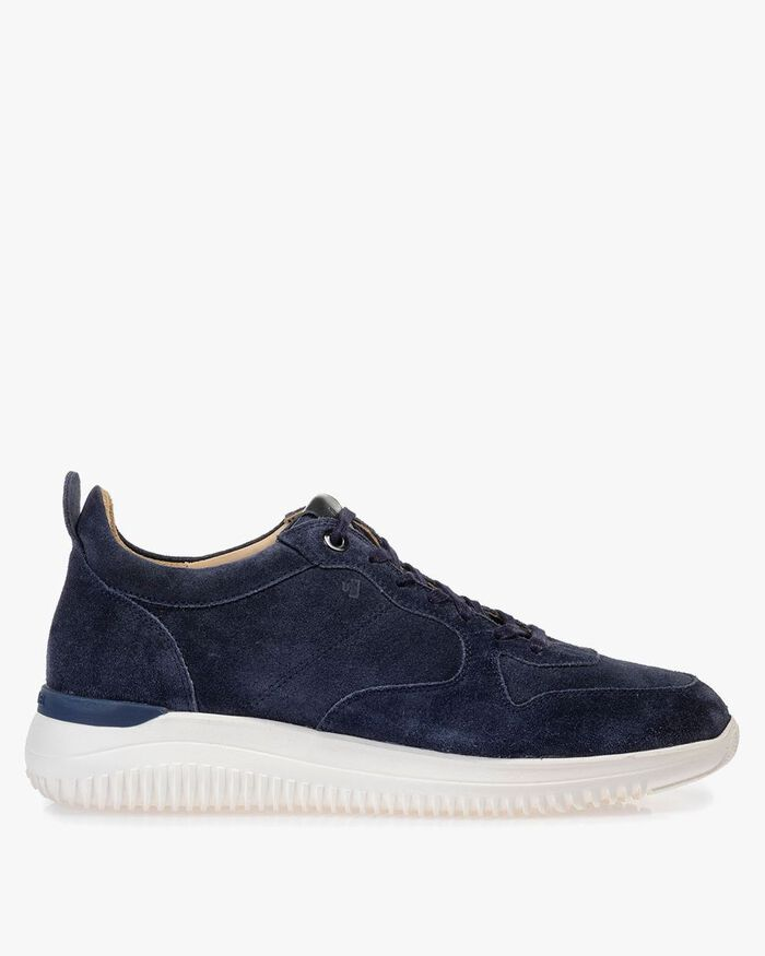 Sneaker suede leather blue