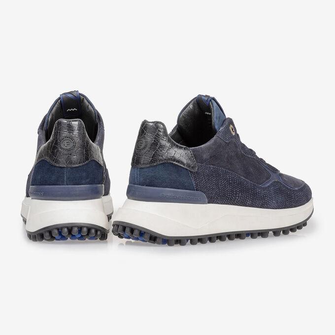Noppi sneaker suede leather blue