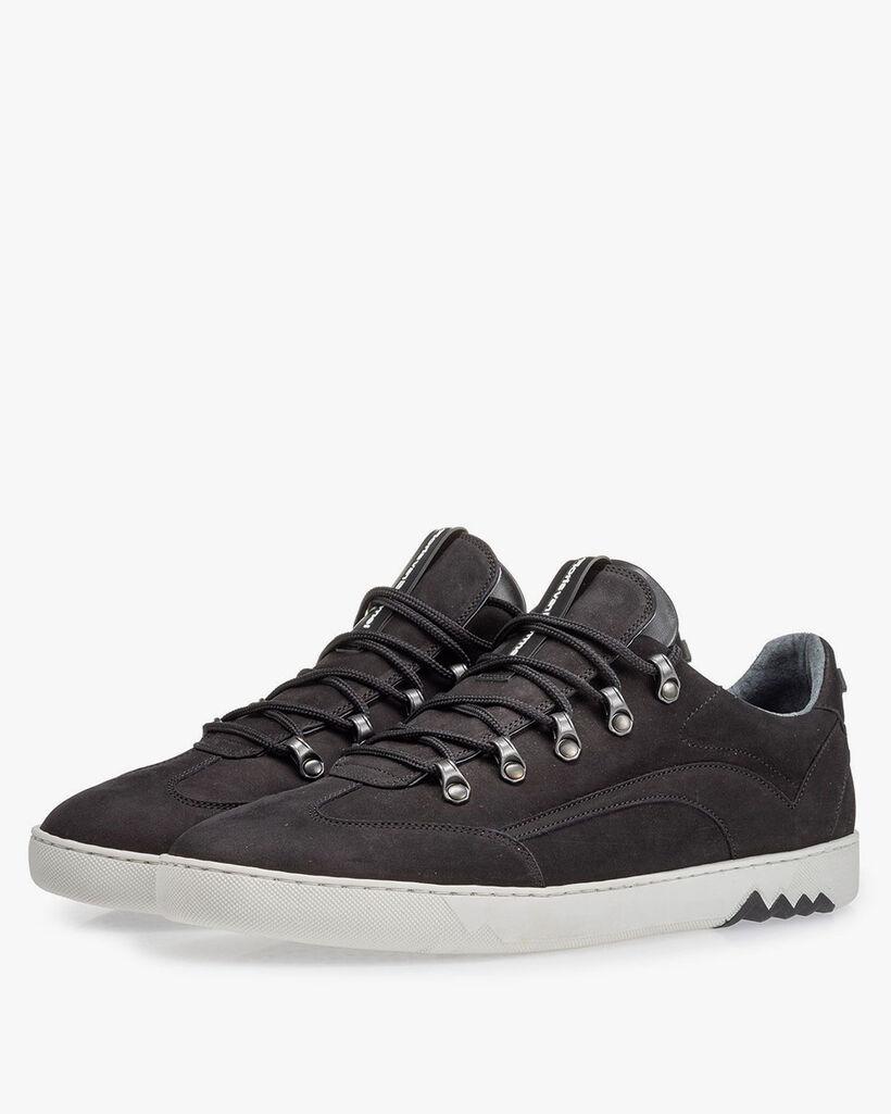 Sneaker Nubuk schwarz