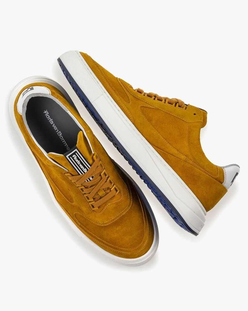 Sneaker gelb Wildleder