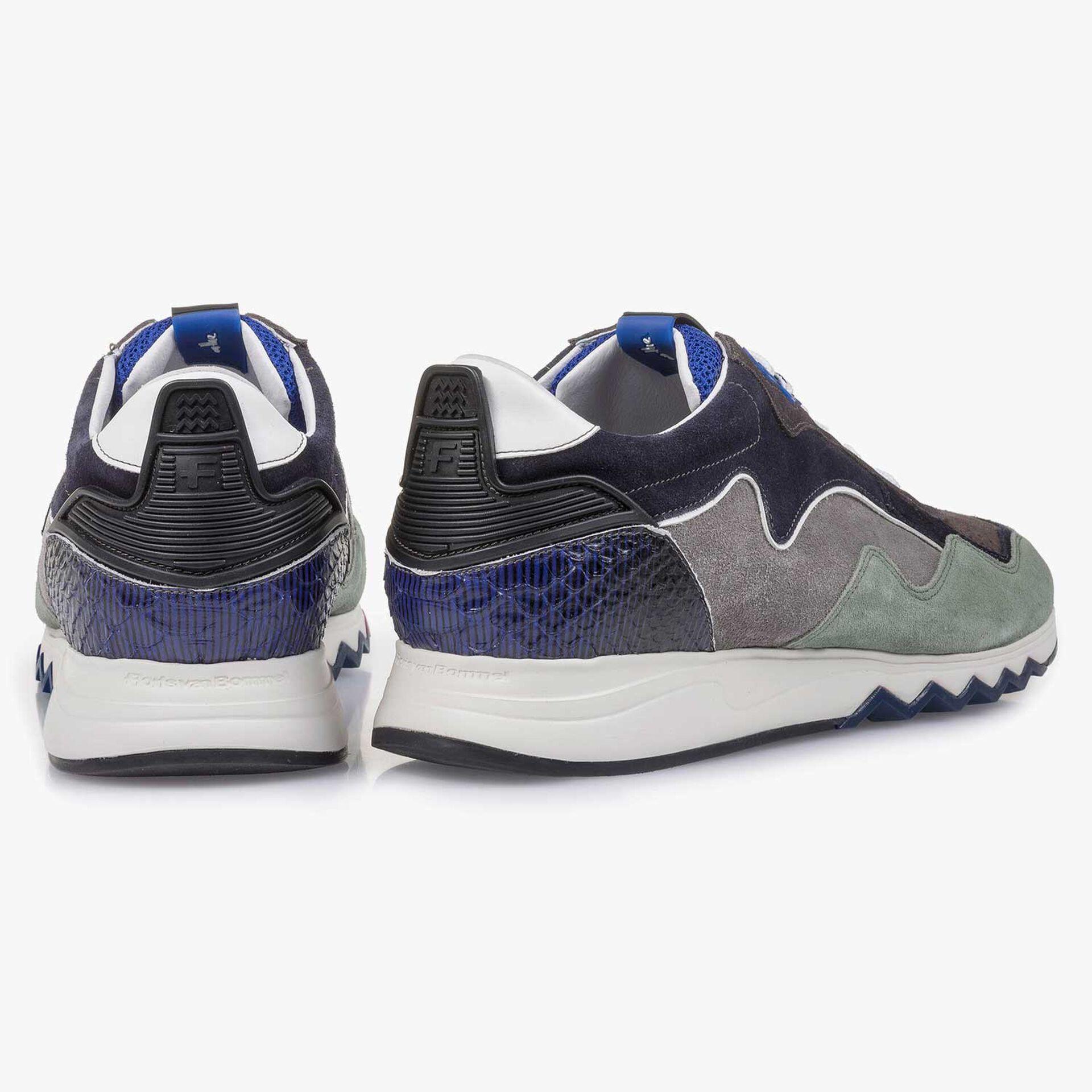 Grün-blauer Wildleder-Sneaker