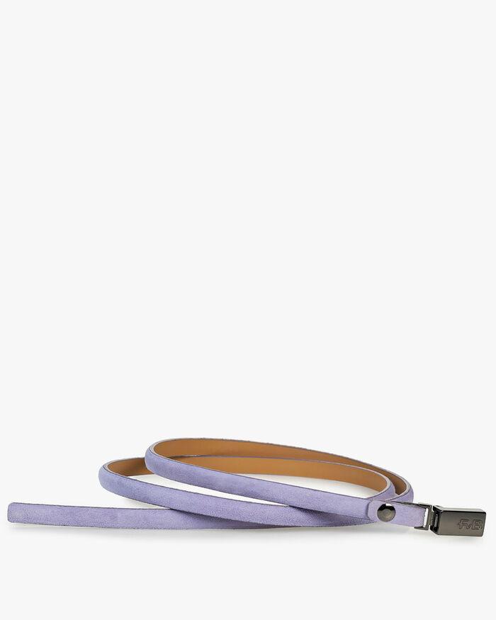 Gürtel Wildleder violett