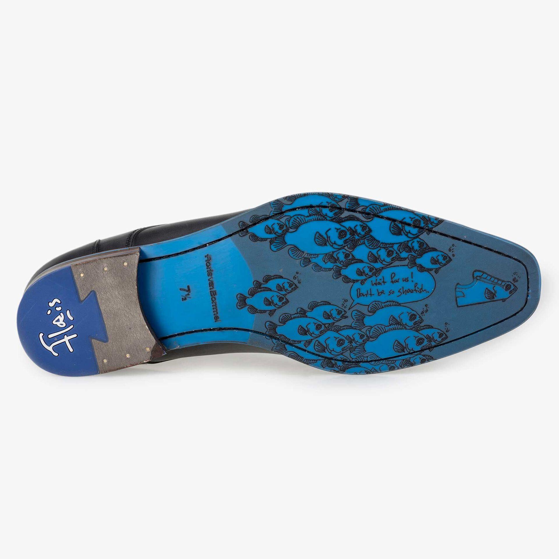 Floris van Bommel men's grey leather lace boot