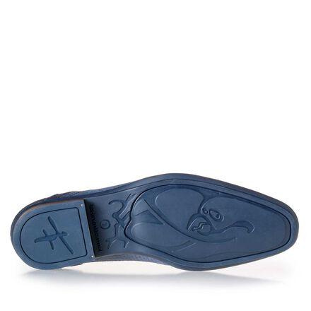 Leder Schnürschuh mit blauer Sohle