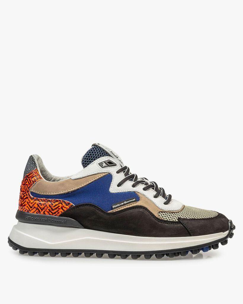 Schwarzer Nubukleder-Sneaker