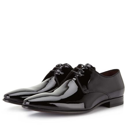 Floris van Bommel patent leather men's lace-up shoe