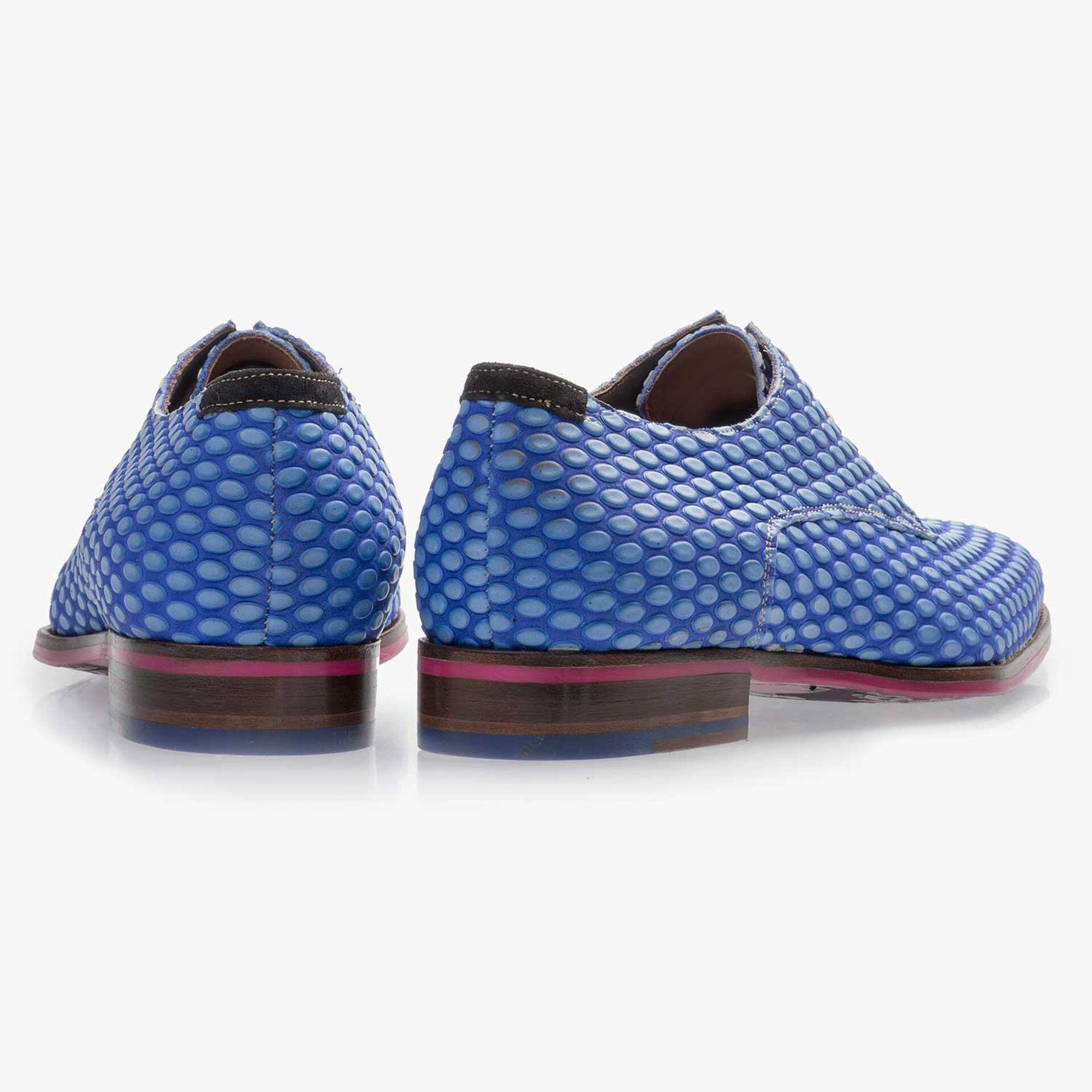 Kobaltblauer Premium Schnürschuh aus Leder