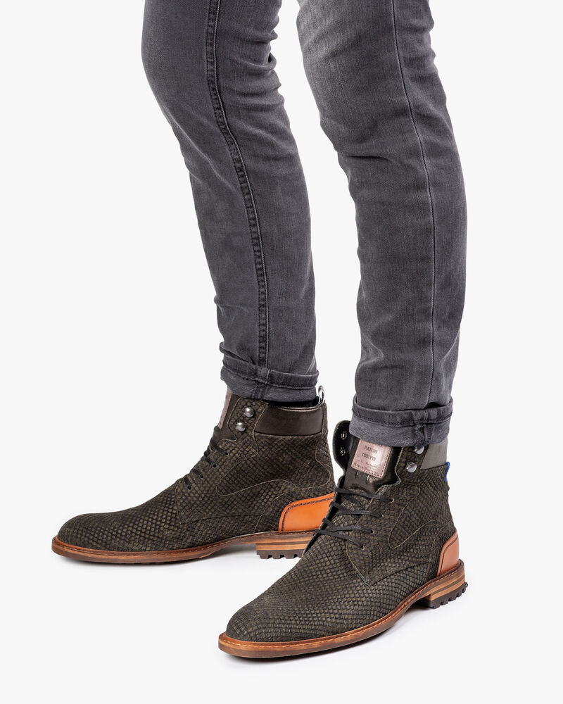 Crepi boot green with print