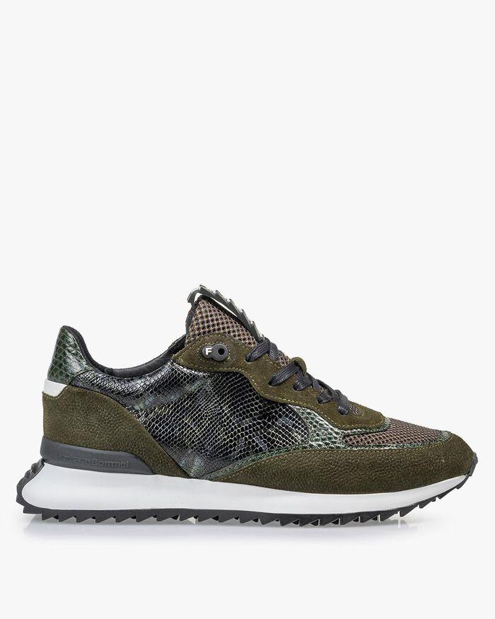 Sneaker Wildleder-Print grün