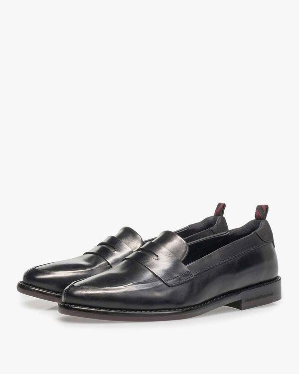 Schwarzer Kalbsleder-Loafer