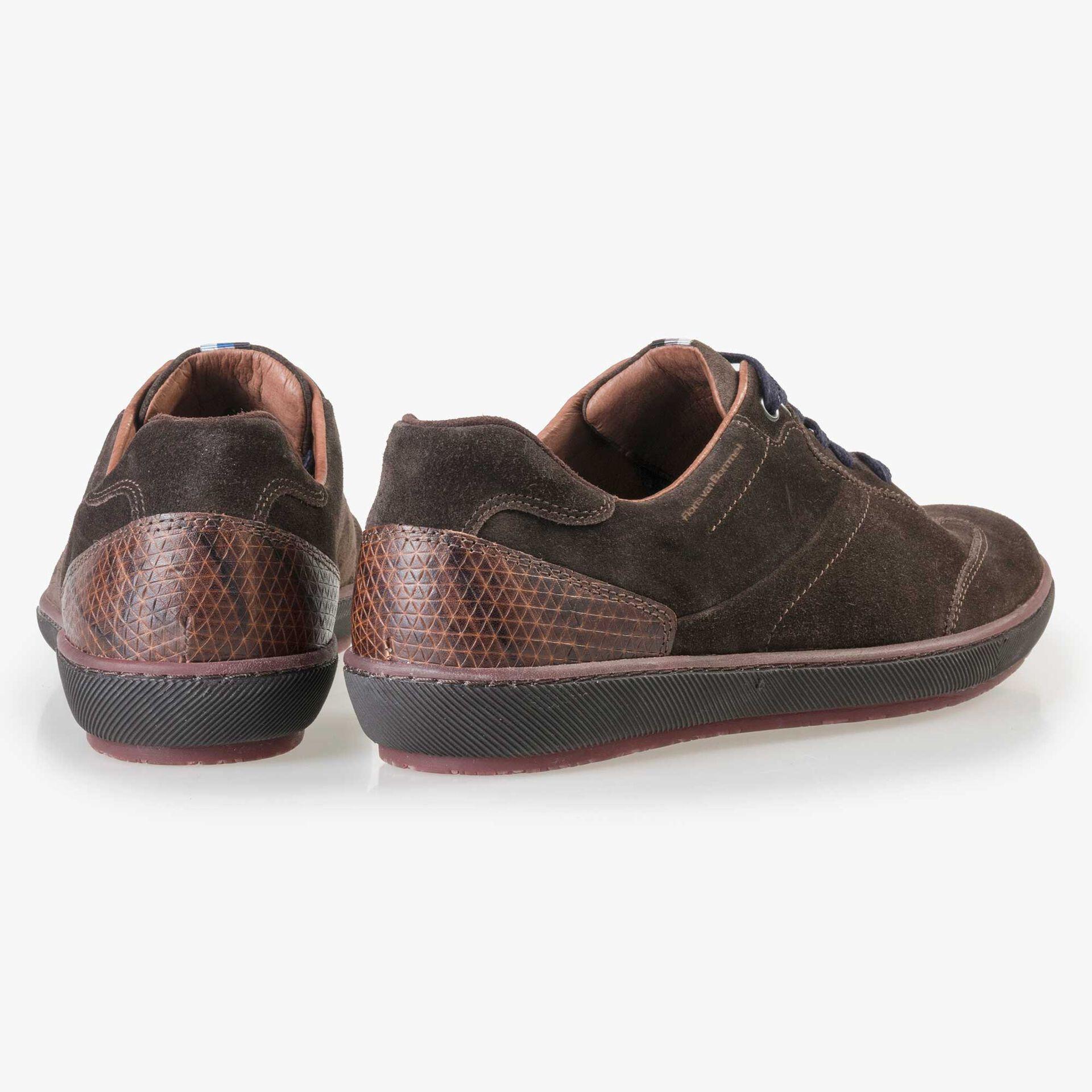 Floris van Bommel men's brown suede leather sneaker