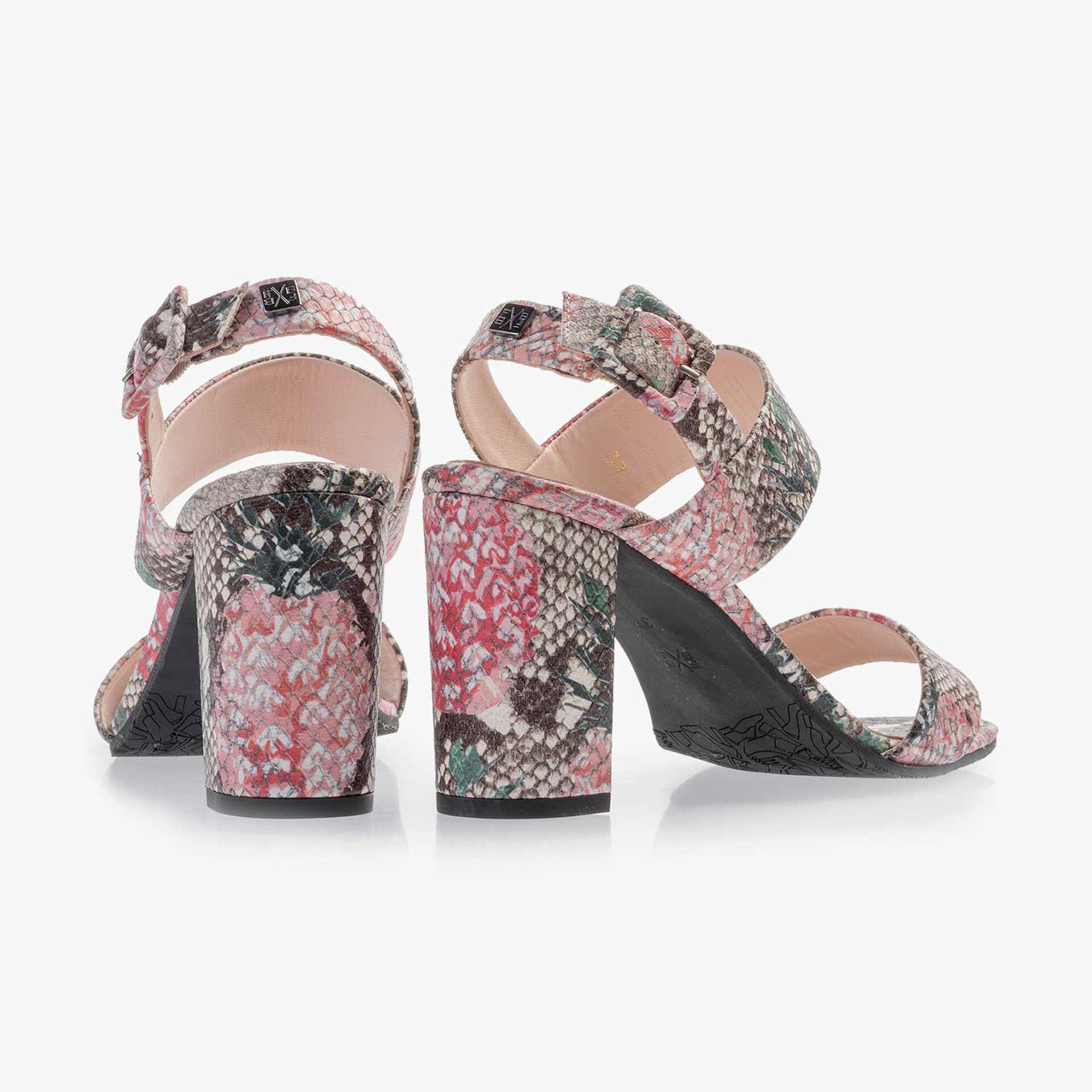 Mehrfarbige bedruckte Leder Sandale