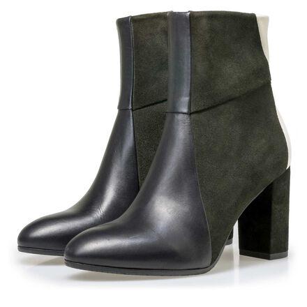 Floris van Bommel suede leather patchwork ankle boots