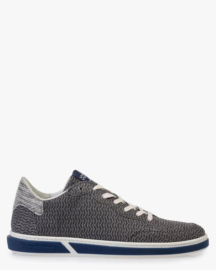 Sneaker nubuck leather grey