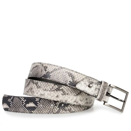 Calf's leather belt with snake relief pattern