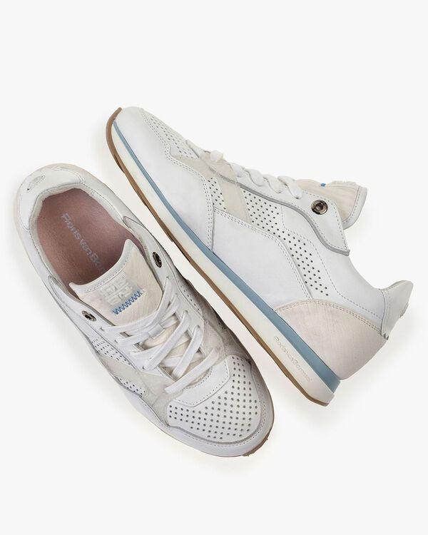 Sneaker weißes Kalbsleder