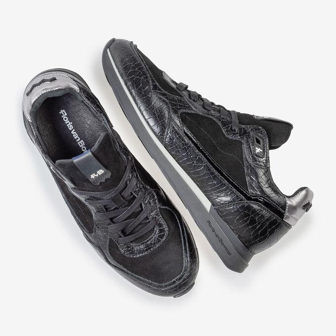 Sneaker schwarzes Leder