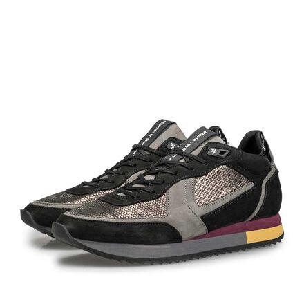 Wildleder-Sneaker mit Metallic-Print