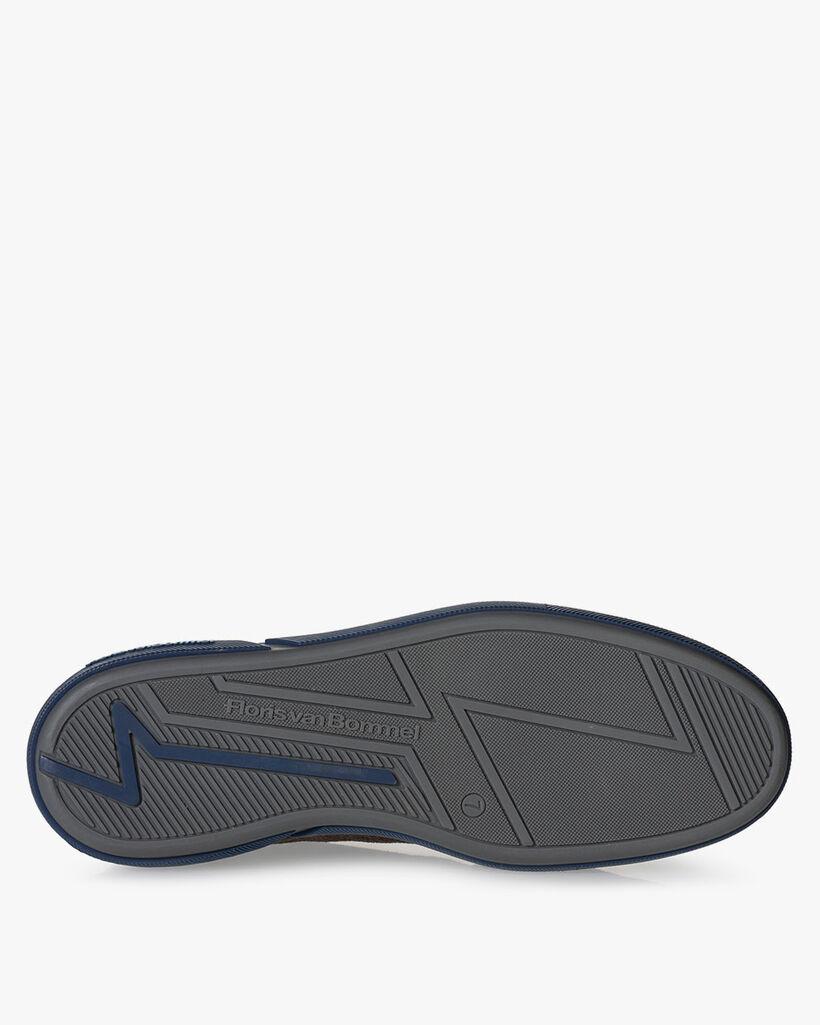 Sneaker leather dark brown