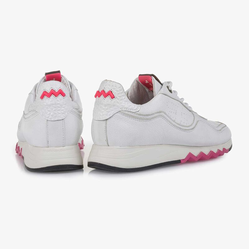 Floris van Bommel - Weißer fein strukturierter Kalbsleder-Sneaker - 6