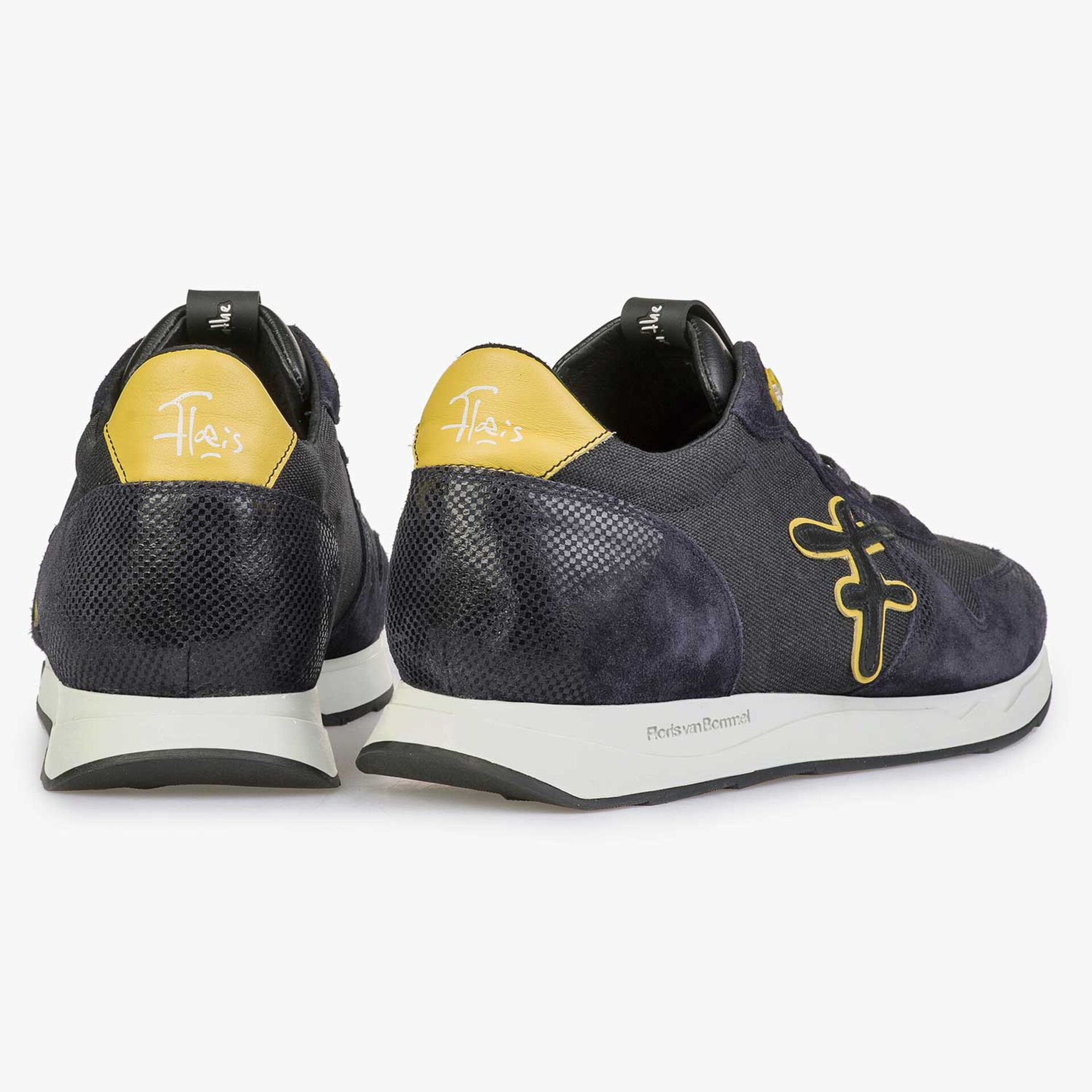 Blauer / Grauer Sneaker mit gelben Details