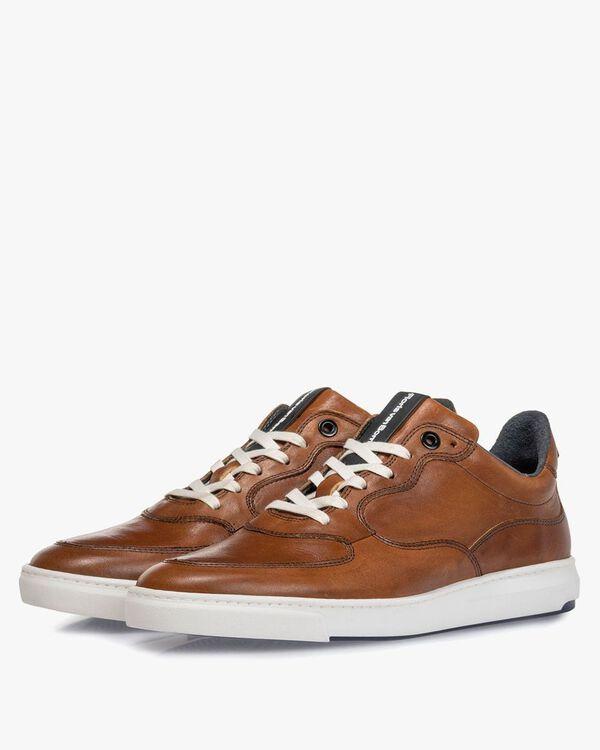 Sneaker cognac Kalbsleder