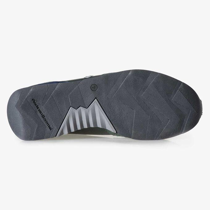 Dark green calf leather sneaker