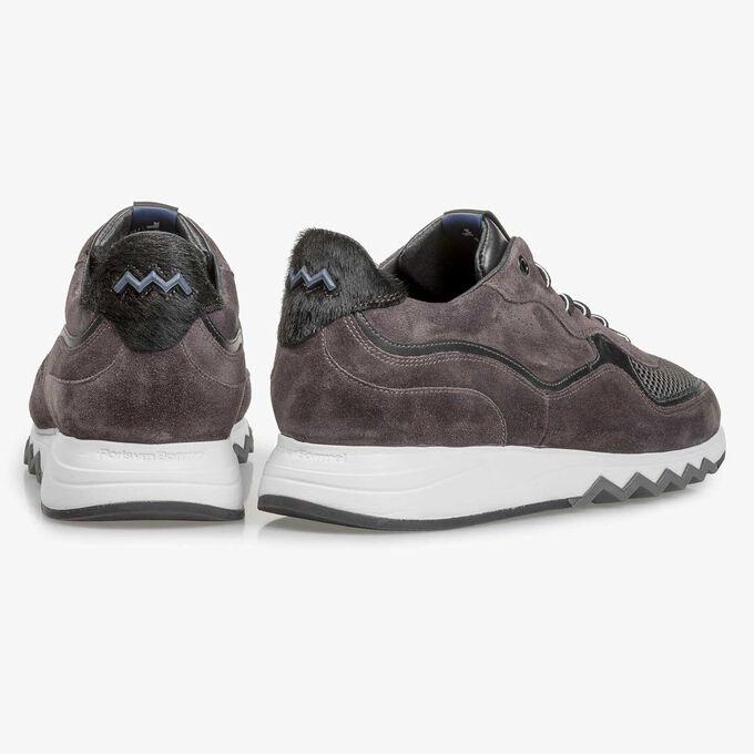 Anthrazit-brauner Wildleder-Sneaker
