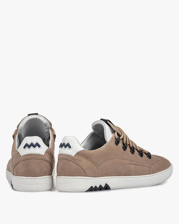 Hiking-Sneaker Nubukleder beige