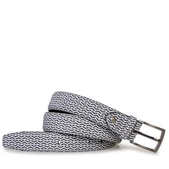 Belt leather black/white