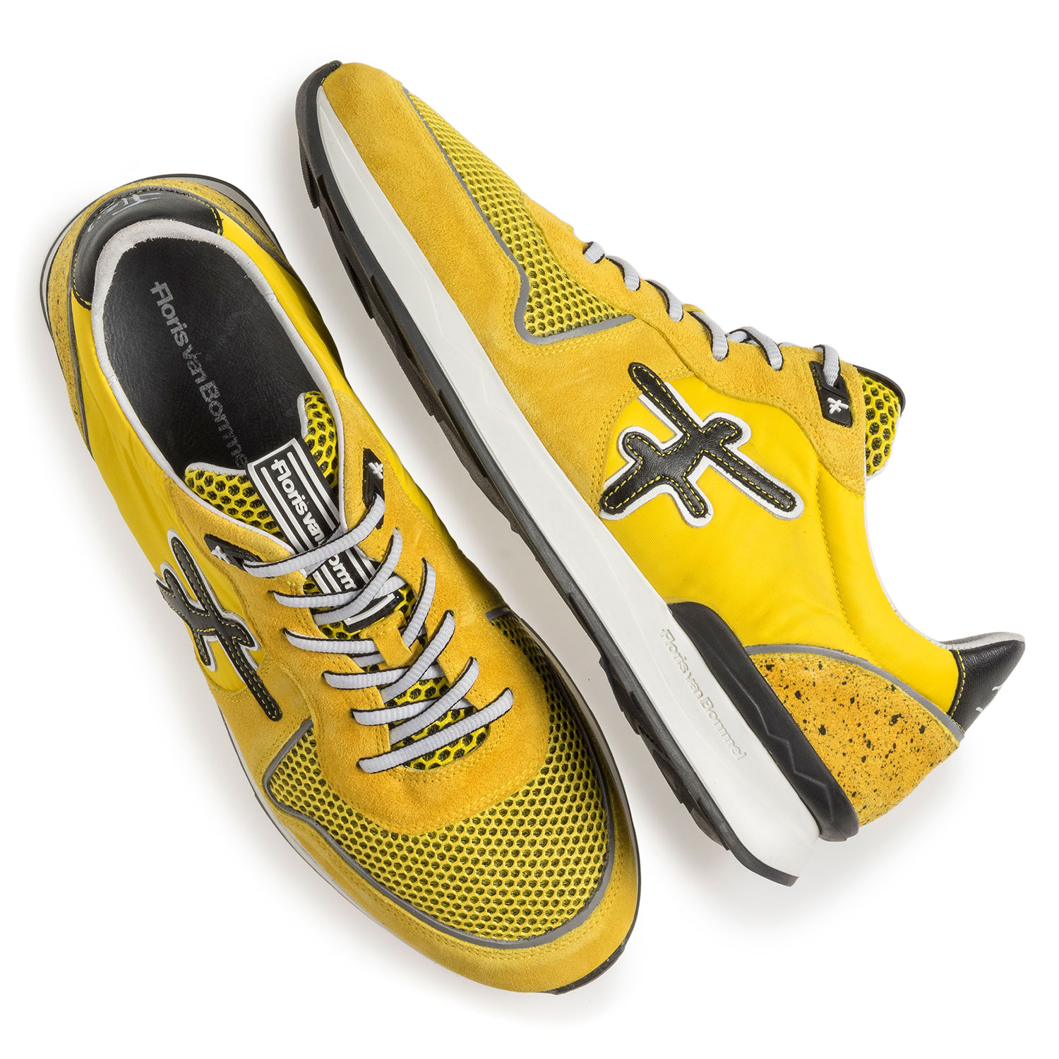 16346/09 - Yellow suede leather sneaker