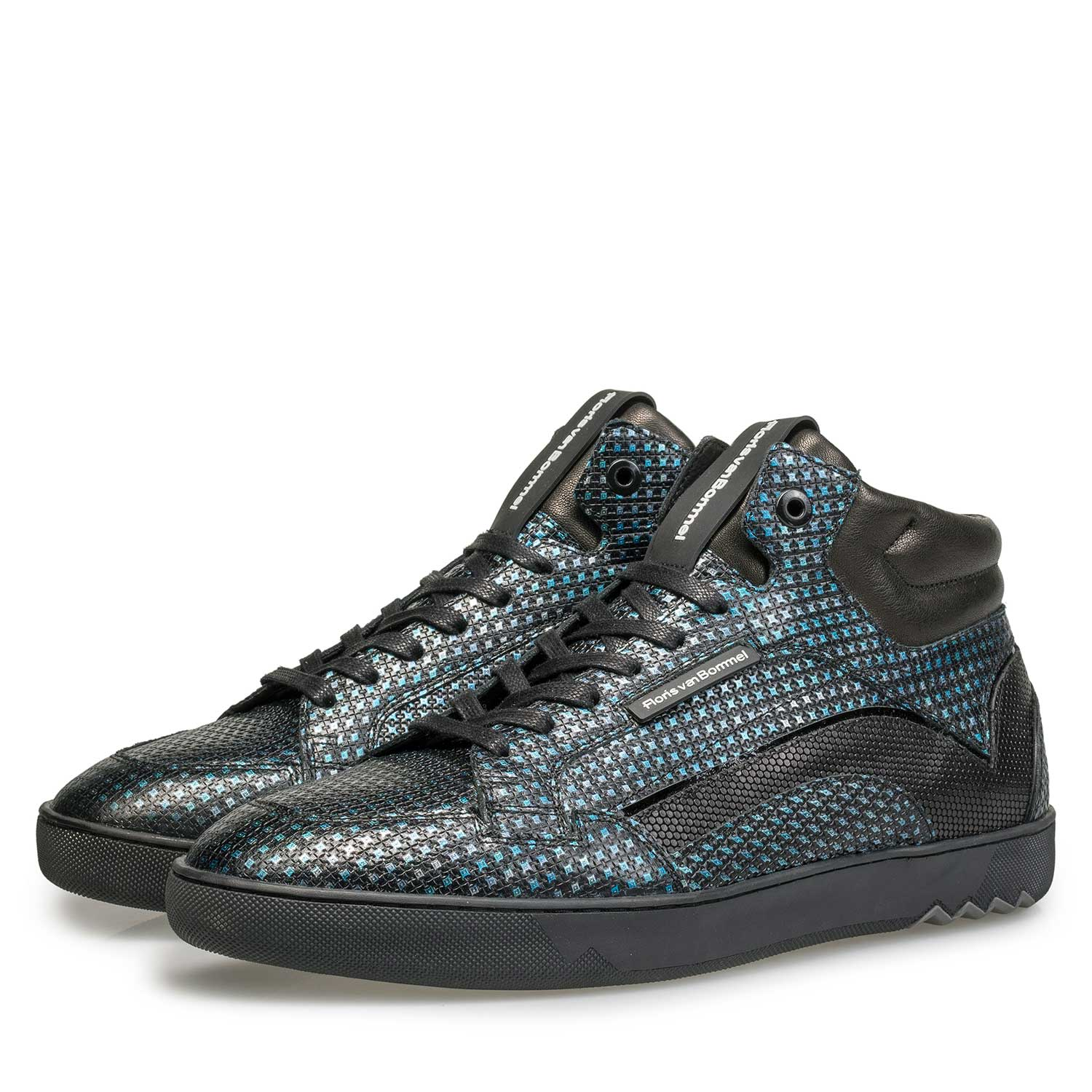 10200/10 - Blue sneaker with metallic print