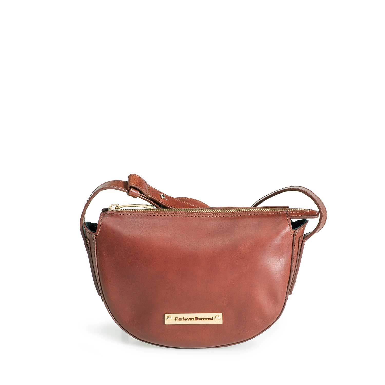 89013/01 - Brown leather cross body bag