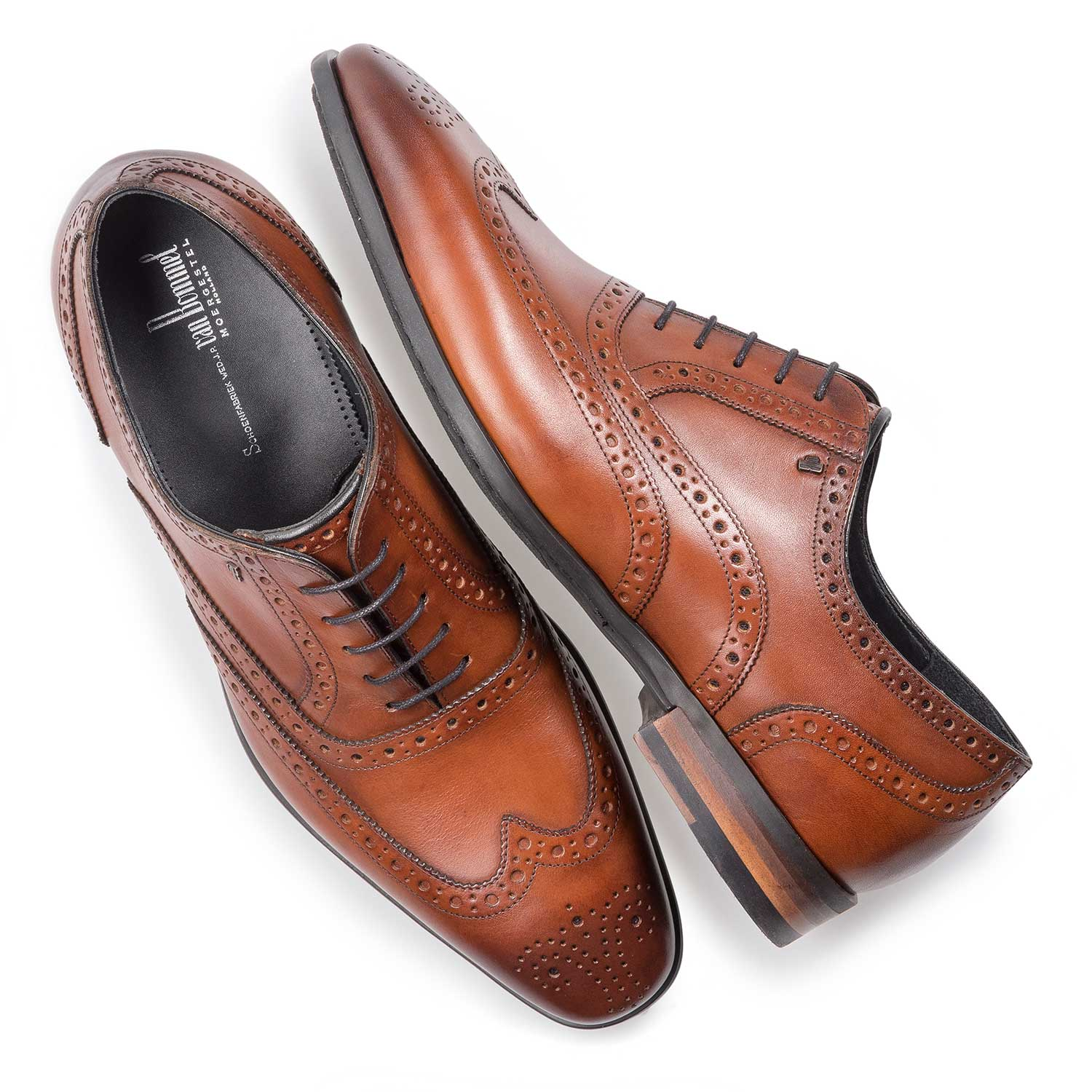 19105/04 - Cognac-coloured calf leather brogue