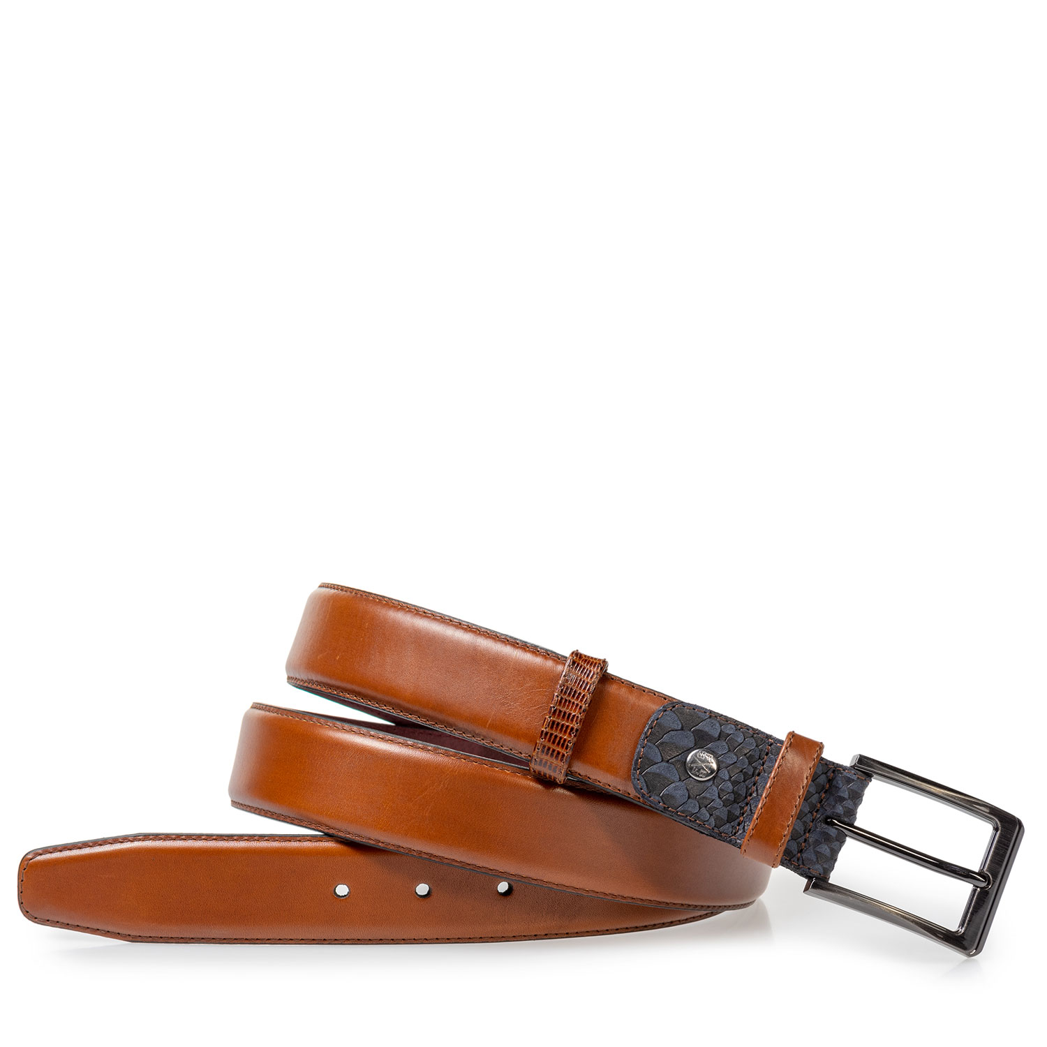 75160/00 - Cognac-coloured leather belt