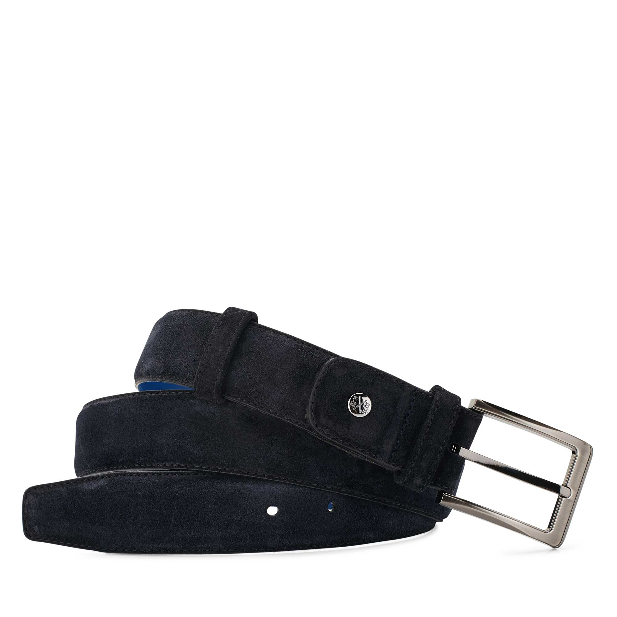 75153/11 - Dark blue calf's leather belt