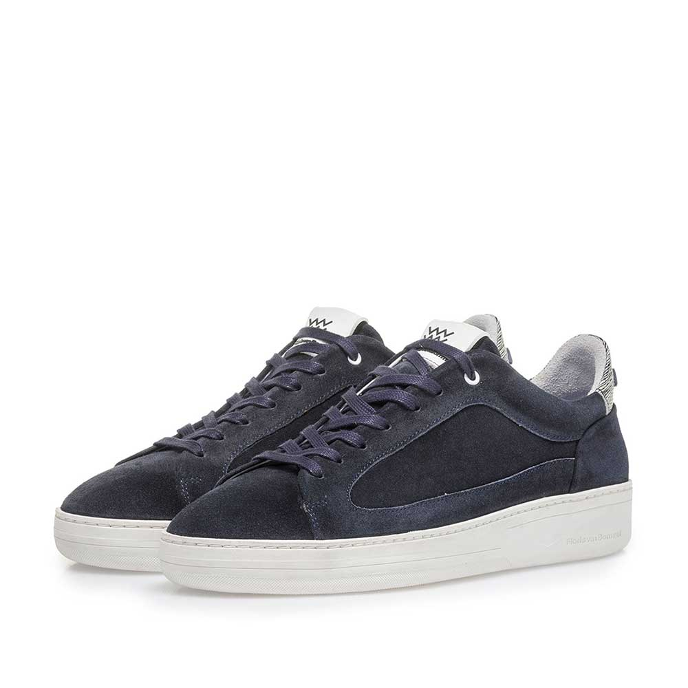 13265/04 - Dark blue suede leather sneaker