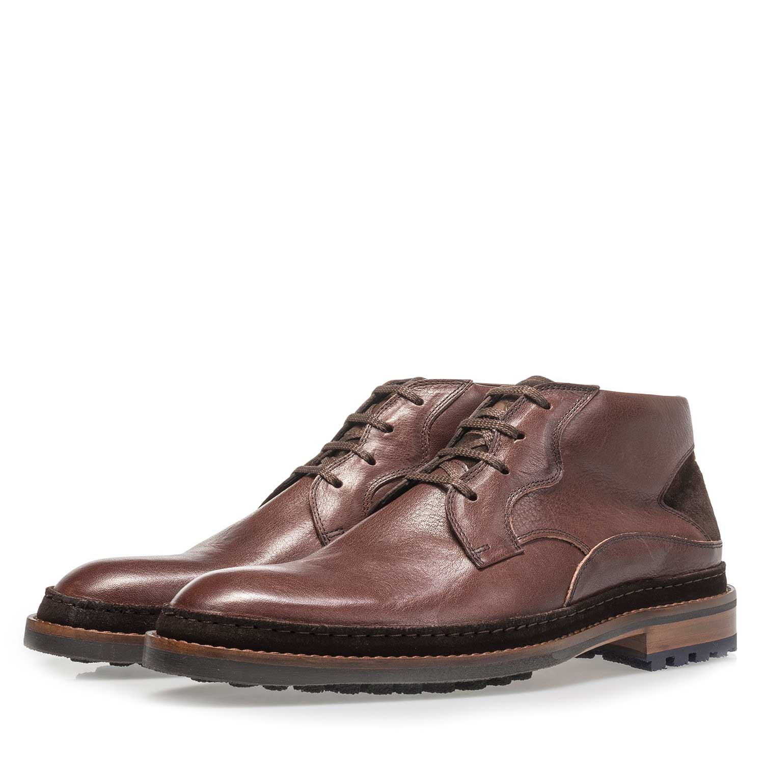 10509/00 - Red-brown calf leather boot