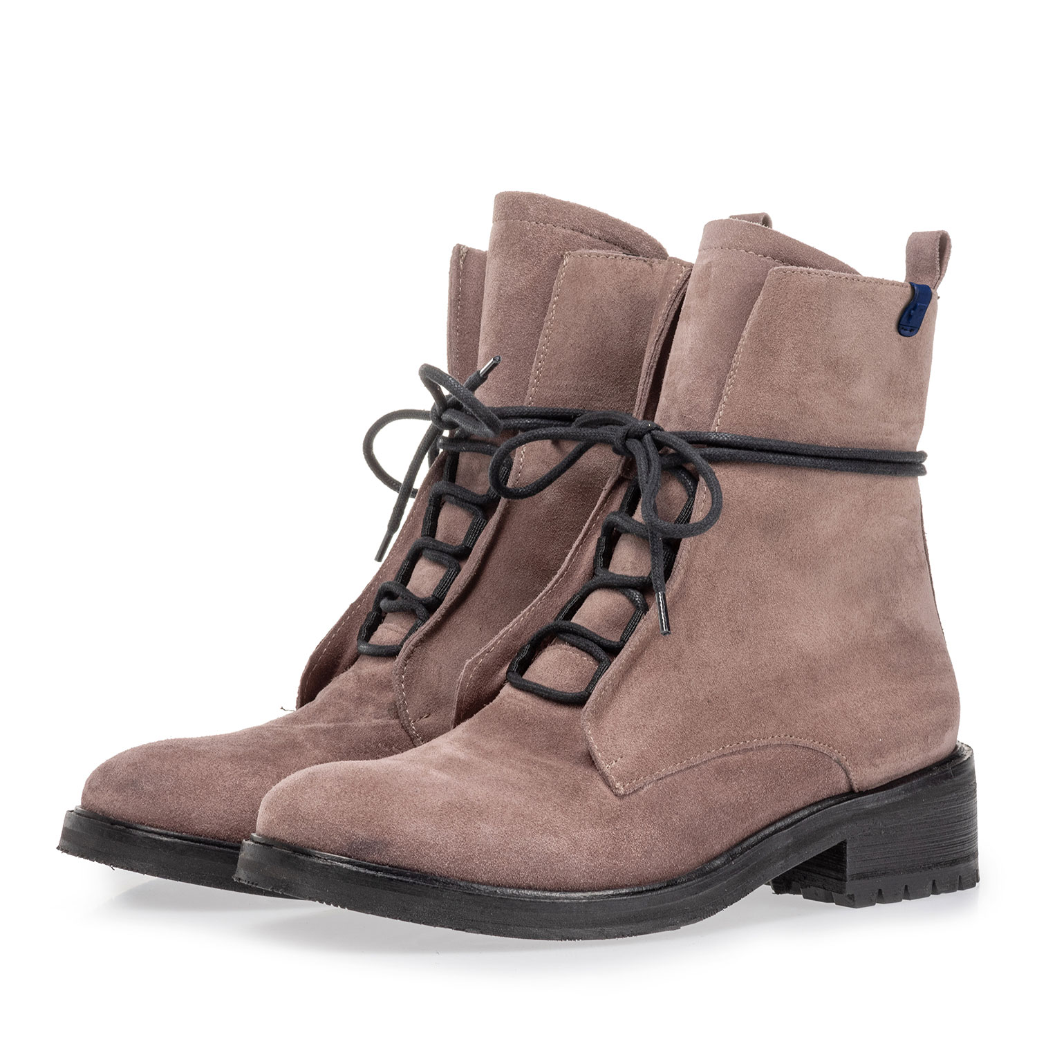 85647/03 - Lace boot suede leather dark pink
