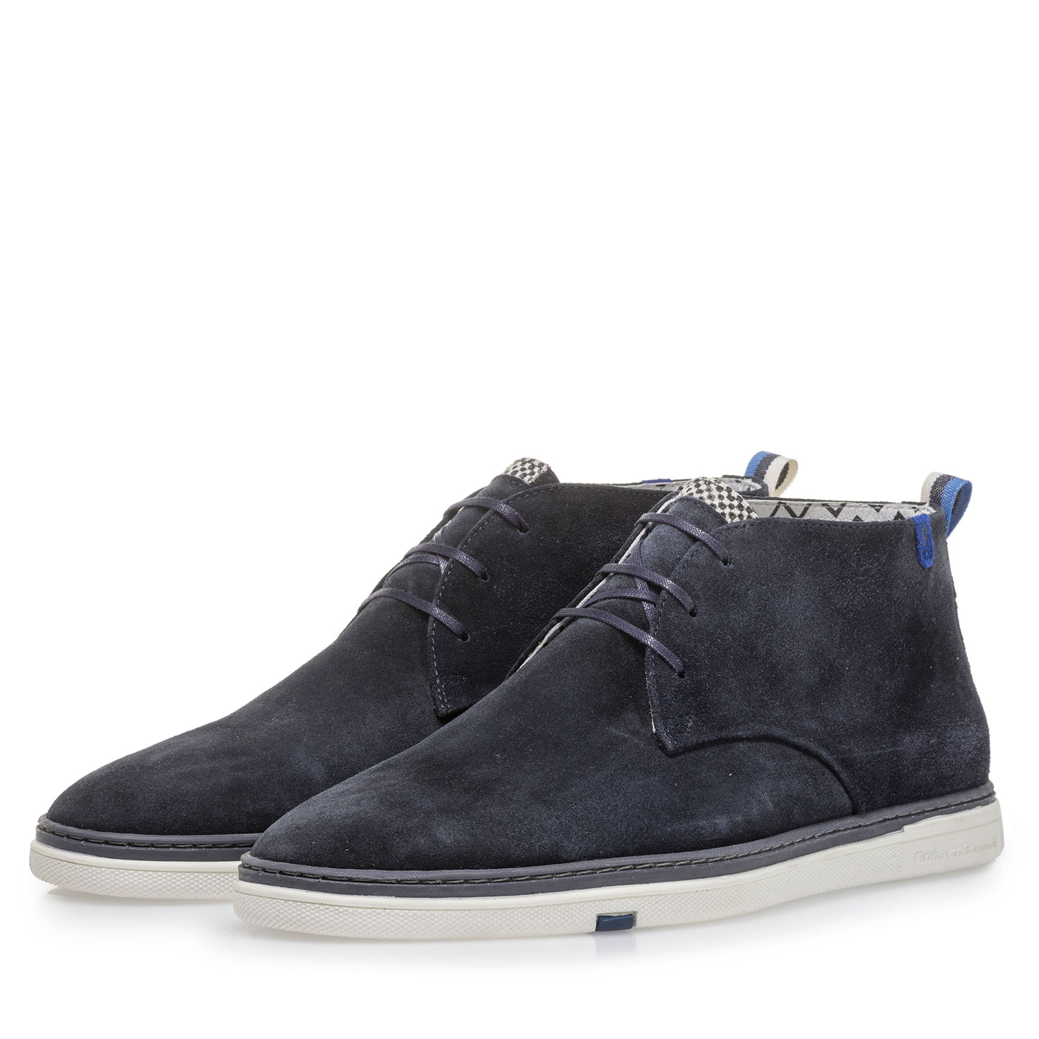 10502/06 - Dark blue suede leather lace boot